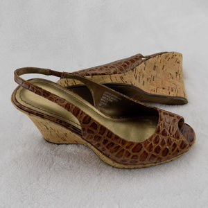 "Nickels Soft Slingback Open Toe 3.5"" Wedge Sandals"
